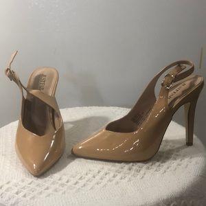 2 for $15-nude sling back heels